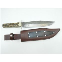 ORIGINAL BOWIE KNIFE WITH LEAHTER SHEATH