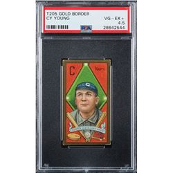 T205 Gold Border Cy Young PSA VG-EX+ 4.5