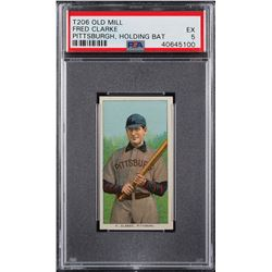 T206 Old Mill Fred Clarke PSA EX 5