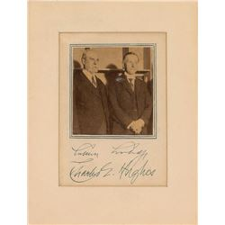 Calvin Coolidge and Charles Evans Hughes