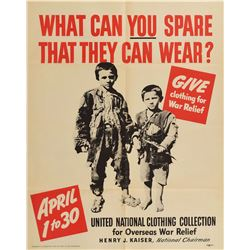 World War II Posters: Relief Efforts
