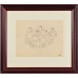 Dwarfs production drawing from Snow White and the Seven Dwarfs