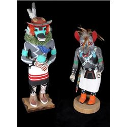 Hopi Hand Carved Kachina Dolls (2)