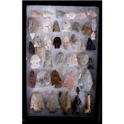 Ancient Montana Arrowhead Artifact Collection