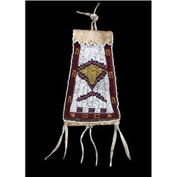 Ute Native American Beaded Strike-a-Lite Bag c1890