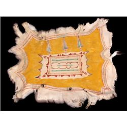 Sioux Hand Painted Pictorial Polychrome Deer Hide