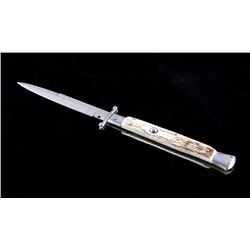 Frank Beltrame Stag Horn Swinguard Switchblade