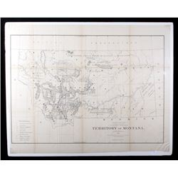 Territory of Montana Map, Compiled; C. Roeser 1876