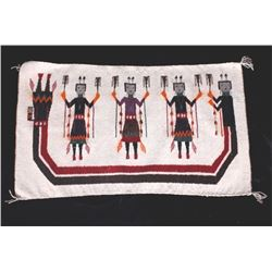 Navajo Yei Pictorial Rug Fine Wool c. Early 1900's
