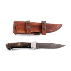 CFK Ram Horn Dagger with Leather Scabbard