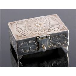 Navajo Sterling Silver Jewelry Box