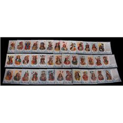 Red Man Tobacco Indian Chiefs Trading Card Set