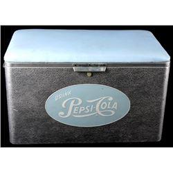 Vintage Aluminum Cronstroms Pepsi-Cola Cooler