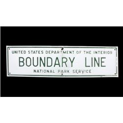 Yosemite National Park Service Boundary Line Sign