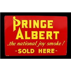 Prince Albert Tobacciana Embossed Vendor Sign