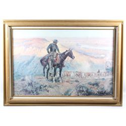 """Charles Russell """"The Wagon Boss"""" Framed Print"""