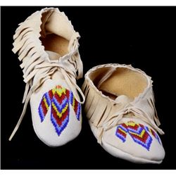 North West Native Fringed Beaded Moccasin