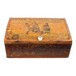 Early Frank Siddall's Soap Advertising Wood Crate