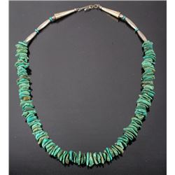 Navajo Turquoise Nugget & Sterling Necklace