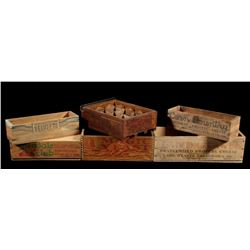 Early Antique Branded Wood Boxes (6)