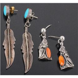 Navajo Sterling Silver Signed Earring Collection