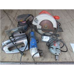 B&D Saw, Drill, Side Grinder, Palm Sander & Jig Saw
