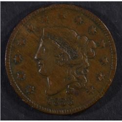1835 LARGE CENT, VF/XF