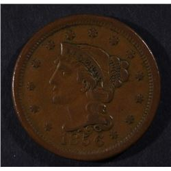 1856 LARGE CENT, XF NICE