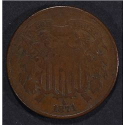 1871 2-CENT PIECE F/VF KEY DATE