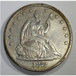 1872-S SEATED HALF DOLLAR, XF