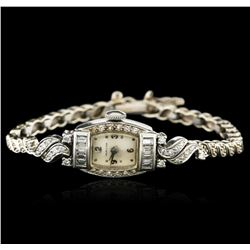 Hamilton Platinum 1.15 ctw Diamond Vintage Ladies Watch