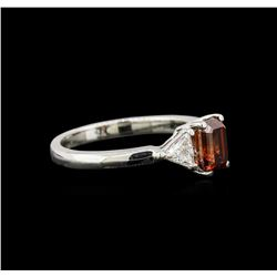 1.59 ctw Fancy Orange Diamond Ring - 14KT White Gold