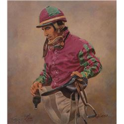 """Laffit"" Canvas Lithograph by Fred Stone - #43/250"