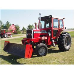 1976 Massey Ferguson 1085 Tractor, Dual Hyd, 18.4x34 Rubber, Blade Sold Separate
