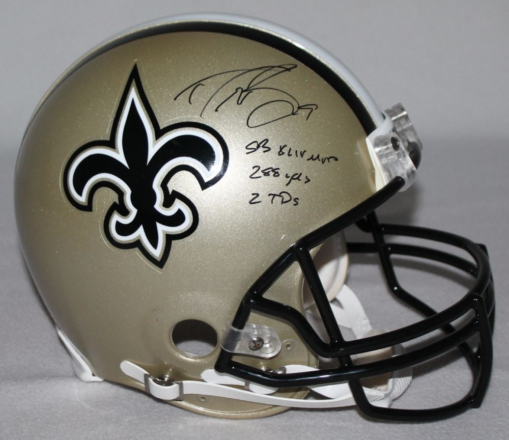 44b82d346 Image 1   Drew Brees Signed Saints Full-Size Authentic Pro-Line Helmet  Inscribed
