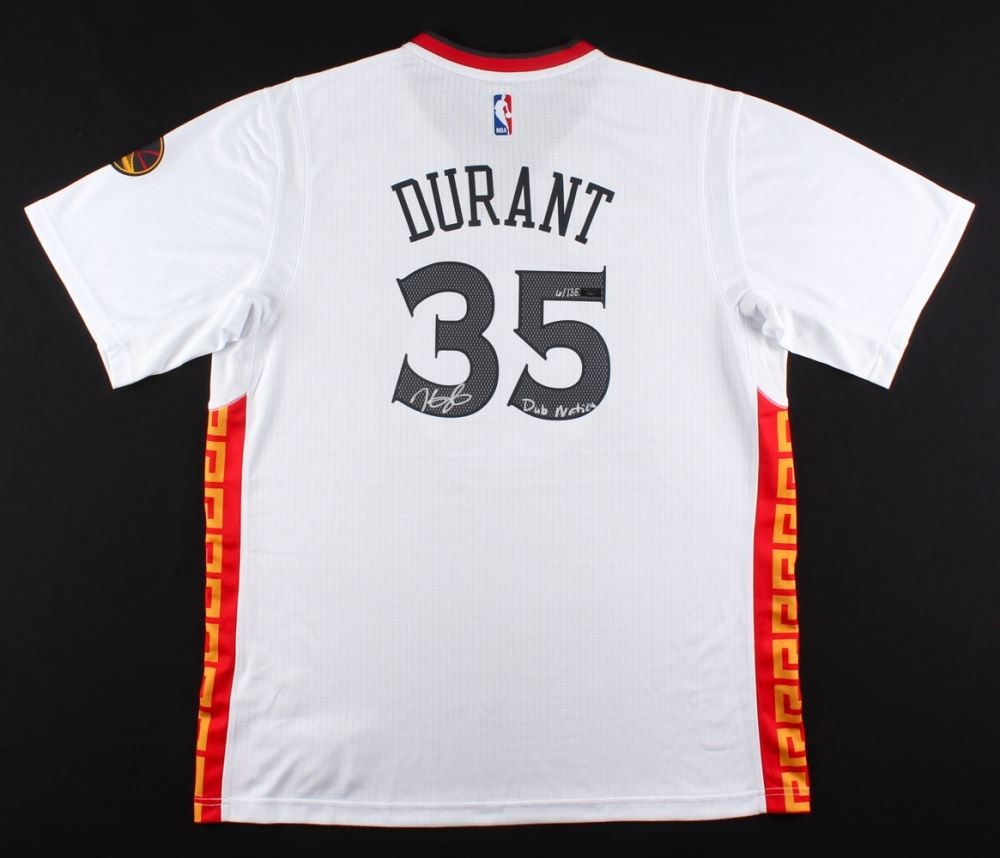 26e61299c Image 1   Kevin Durant Signed LE Warriors Chinese New Years Adidas Jersey  Inscribed