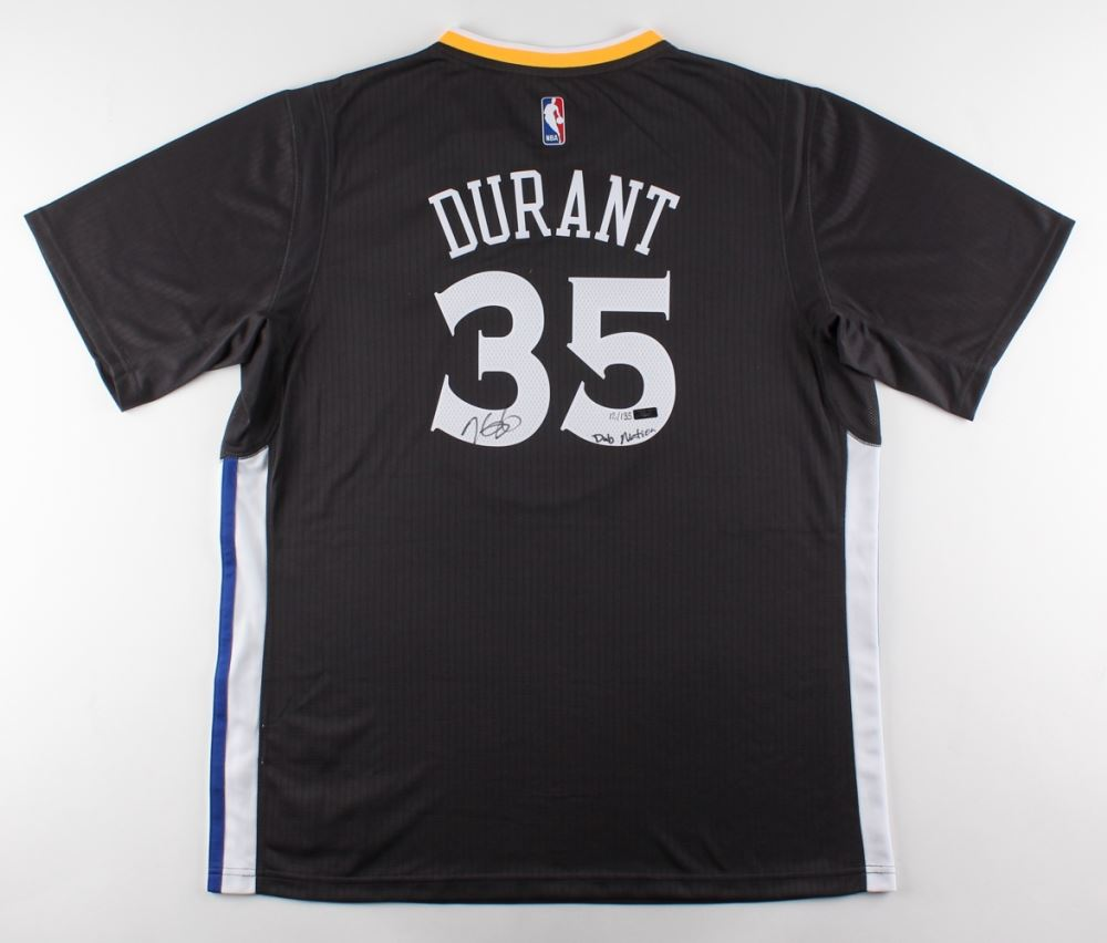 2717337b9 Image 1   Kevin Durant Signed LE Warriors Adidas Jersey Inscribed