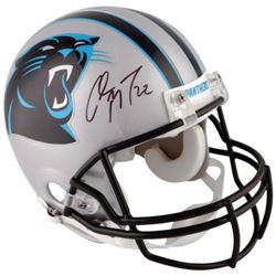 Christian McCaffrey Signed Panthers Full-Size Authentic On-Field Helmet ( Fanatics) 458645839e9e