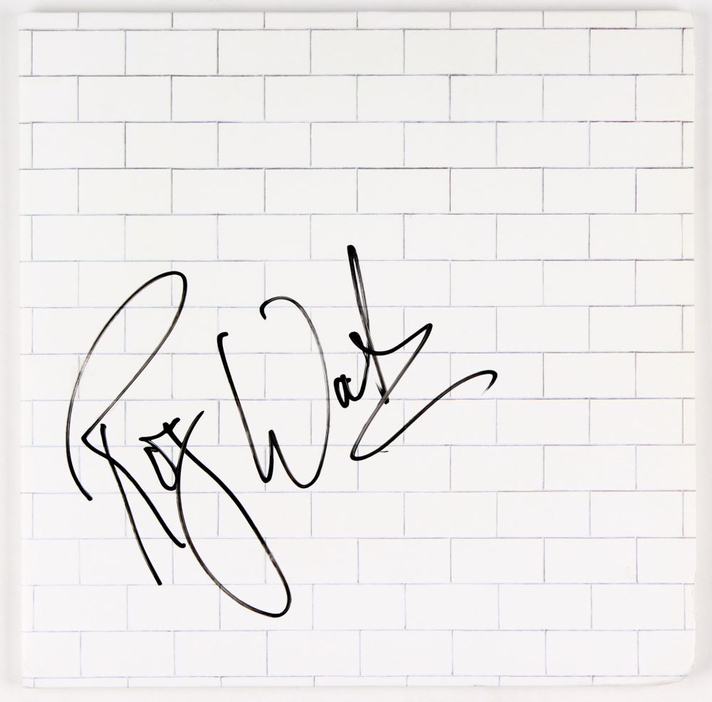 roger waters signed pink floyd the wall double vinyl record album Record Album Frames image 1 roger waters signed pink floyd the wall double vinyl record album