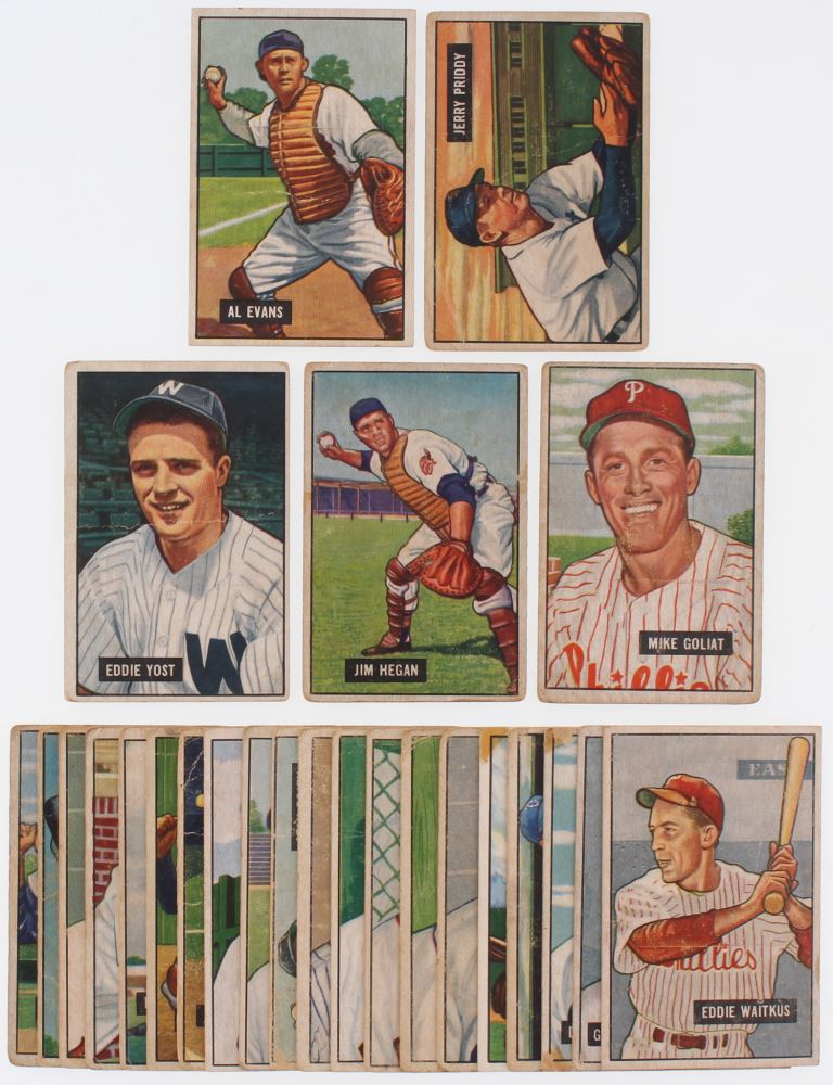 Image 1 Lot Of 25 1951 Bowman Baseball Cards With 38 Al