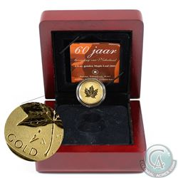 Canada 2005 1/4oz Reverse Proof Tulip Privy Mark Gold Maple Leaf. 9999 Pure (Tax Exempt). Coin comes