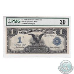 USA Paper Money 1899 $1 Silver Certificate, Fr#236, Speelman-White, S/N: R99973484A. PMG VF-30.