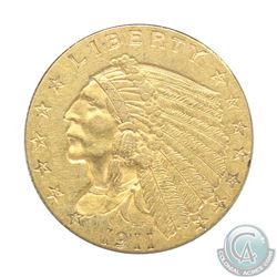 1910 USA Gold $2 1/2 Quarter Eagle in Extra Fine