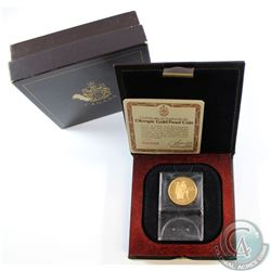 Canada 1976 $100 Montreal Olympic 22k Gold Coin in Original Box with COA.