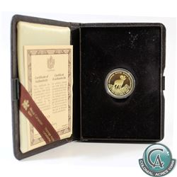 Canada 1985 $100 National Parks 22k Gold Coin in Original Display Case with COA.