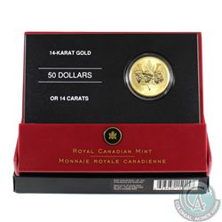 Canada: 2005 $50 14K Gold 60th Anniversary of the End of WWII Coin.