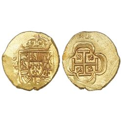 Mexico City, Mexico, cob 1 escudo, (1714)J, ex-1715 Fleet.