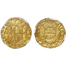 Seville, Spain, 1 escudo, Charles-Joanna, assayer * to left, mintmark S to right, NGC MS 63.