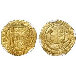 Seville, Spain, 1 escudo, Charles-Joanna, assayer * to right, mintmark S to left, NGC AU 53.
