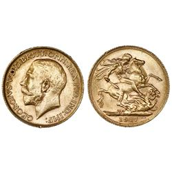 Perth, Australia, sovereign, George V, 1917-P.